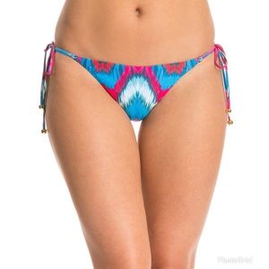 String Bikini Bottom PILYQ Mumbai Side Tie Pink